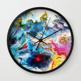 Abstract Melt VII Wall Clock