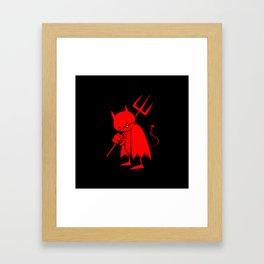 minima - sad devil Framed Art Print