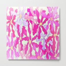Bright and Hazy Floral Metal Print