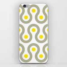 Gray & Yellow Wave Pattern iPhone & iPod Skin