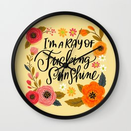 Pretty Swe*ry: I'm a Ray of Fucking Sunshine Wall Clock