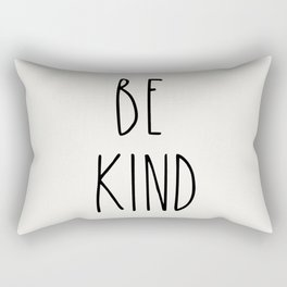BE KIND Inspirational Quote hand print font Typography Rectangular Pillow