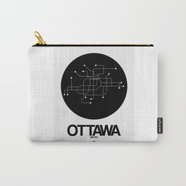 Ottawa Black Subway Map Carry-All Pouch