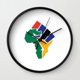 Raised Fist Africa Wall Clock