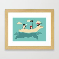 The Scourge of the Arctic Framed Art Print