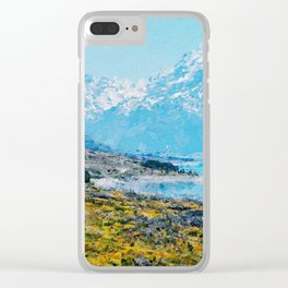 Mountain Scenery 1 painted Clear iPhone Case