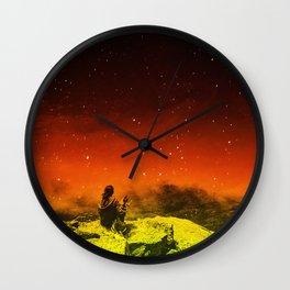 Burning Hill Wall Clock