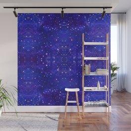 Fractal Galaxy Blues Wall Mural