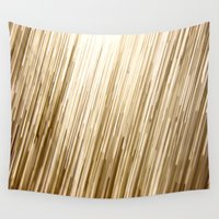 gold glitter Wall Tapestries featuring Gold Glitter 0875 by Cecilie Karoline