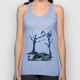 """Wolfdog"" Paulette Lust Original, Contemporary, Whimsical, Colorful Art Unisex Tank Top"