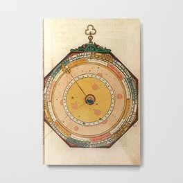 Peter Apian - Astronomicum Caesareum 1540 - Plate 29 Astrological Houses Metal Print