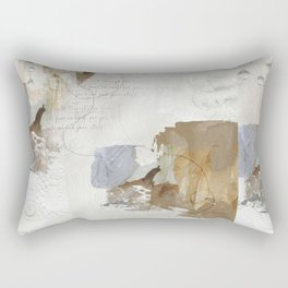 Abstract Leaves in Neutral Colours Rectangular Pillow