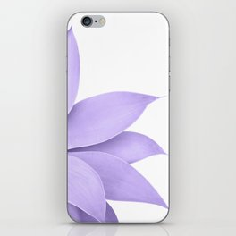 Agave Finesse #9 - Ultra Violet on White #tropical #decor #art #society6 iPhone Skin