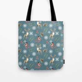 Xmas Pattern Teal #socieyt6 #buyart Tote Bag