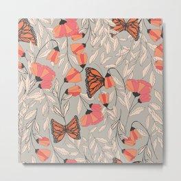 Monarch garden 001 Metal Print