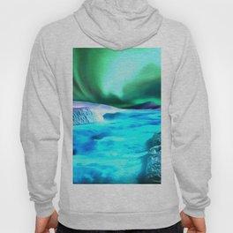 aurora borealis acrylic reacstd Hoody