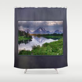 Mt. Moran at Oxbow Bend Shower Curtain