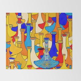 North African moroccan marrakesh hookah vases Throw Blanket