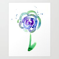 Watercolor Rose Art Print
