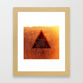 Seek First Framed Art Print