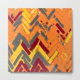 Herringbone Pattern Metal Print