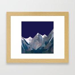 Geo Mountain Range (Part 5) Framed Art Print