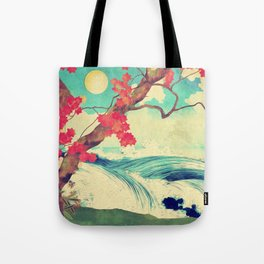 Waking to the Wild and Beautiful Ocean of Dhin Tote Bag