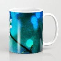 malachite Mugs featuring Azurite Malachite Daisy  by minx267