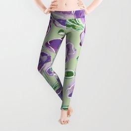 Big Purple Flowers Leggings