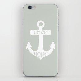 Gray Grey Anchor Sea Salt iPhone Skin
