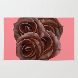 Chocolate, Roses Rug