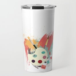 I Arted Funny Artist  Travel Mug
