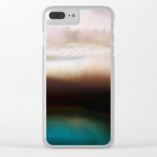 Winters Dusk Clear iPhone Case