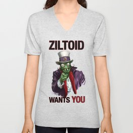 Uncle Ziltoid Wants You! Unisex V-Neck