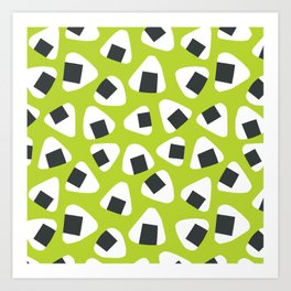Onigiri (rice balls) pattern Art Print