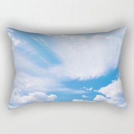 Beautiful blue skies Rectangular Pillow
