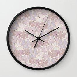 Botanical  clover Pot Wall Clock
