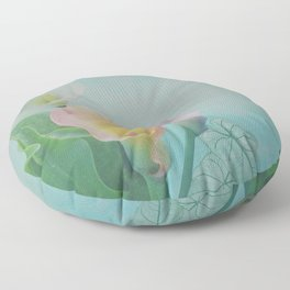 Painterly Calla flowers and leaves Floor Pillow
