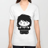 sandman V-neck T-shirts featuring Chibi-Fi Death of The Endless by Eozen