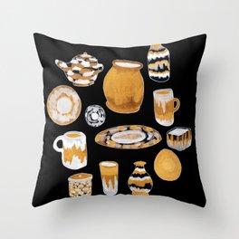 Rust Ceramics Throw Pillow