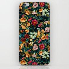 Floral Pattern Winter Garden iPhone & iPod Skin