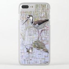 Black-necked Stilt, No. 2 painterly Clear iPhone Case