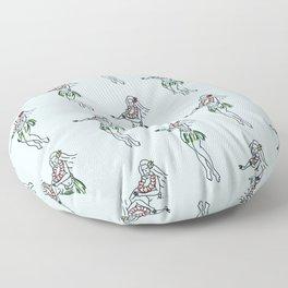 Hula Girls Floor Pillow