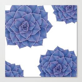Elegant Big Purple Echeveria Design Canvas Print