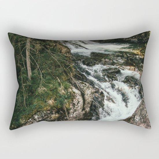 Waterfall In The Mountains Rectangular Pillow
