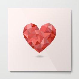 Gem hearts (PANTONE OF THE YEAR 2019) Metal Print