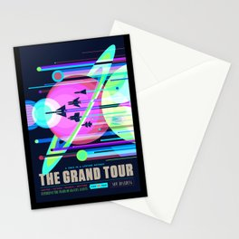 Nasa t-shirt. The Grand Tour poster. For space and science lovers. Stationery Cards