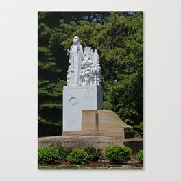 Lourdes University- Our Lady of Sylvania in the Spring (vertical) Canvas Print