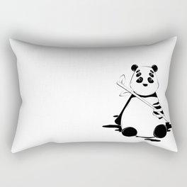 Bamboo lover little bear Rectangular Pillow