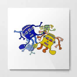 Incantation: a colorful dance to attract positive waves ! Metal Print